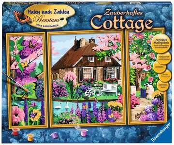 28982 Malen nach Zahlen Zauberhaftes Cottage von Ravensburger 1