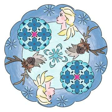 Mandala - midi - Disney La Reine des Neiges 2 Loisirs créatifs;Dessin - Image 7 - Ravensburger