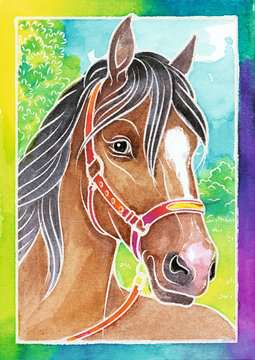 29105 Malsets Pferdeportrait von Ravensburger 2