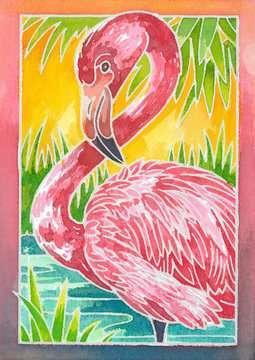 29121 Malsets Flamingo von Ravensburger 2