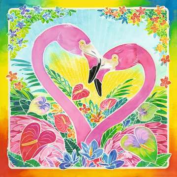 29129 Malsets Traumhafte Flamingos von Ravensburger 4