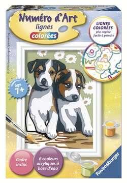 Numéro d art - mini - Deux petits chiots Loisirs créatifs;Peinture - Numéro d'Art - Image 1 - Ravensburger