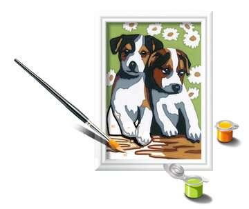 Numéro d art - mini - Deux petits chiots Loisirs créatifs;Peinture - Numéro d Art - Image 3 - Ravensburger
