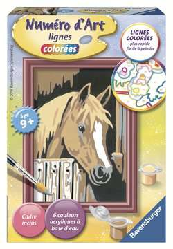 Numéro d art - mini - Cheval dans son box Loisirs créatifs;Peinture - Numéro d'Art - Image 1 - Ravensburger
