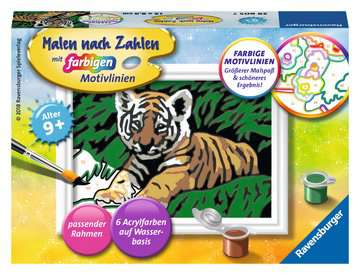 29605 Malen nach Zahlen Süßer Tiger von Ravensburger 1