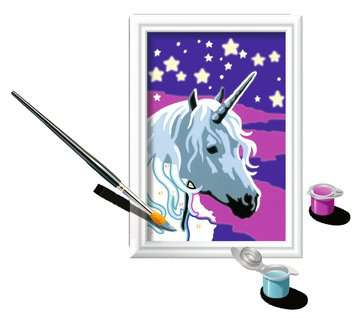 Numéro d art - mini - Licorne scintillante Loisirs créatifs;Peinture - Numéro d Art - Image 3 - Ravensburger