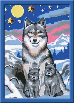 Numéro d art - petit - Famille de loups Loisirs créatifs;Peinture - Numéro d Art - Image 2 - Ravensburger