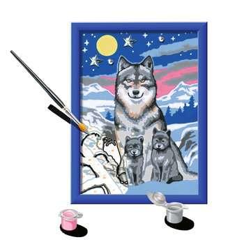 Numéro d art - petit - Famille de loups Loisirs créatifs;Peinture - Numéro d Art - Image 3 - Ravensburger