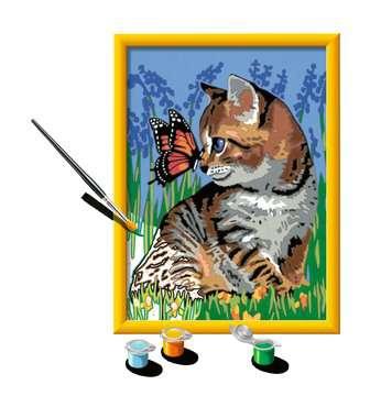 Numéro d art - moyen - Chat et son compagnon le papillon Loisirs créatifs;Peinture - Numéro d'Art - Image 3 - Ravensburger
