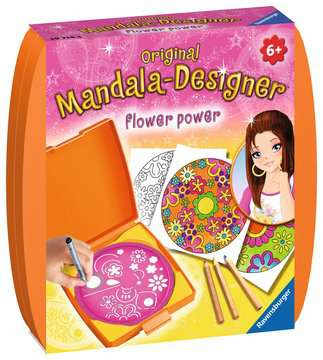 Mini Mandala-Designer® Flower Power Arts & Crafts;Mandala-Designer® - image 1 - Ravensburger