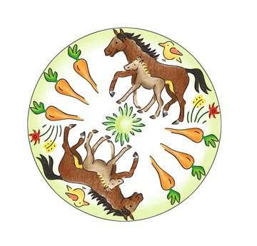 Mandala  - midi - Horses Loisirs créatifs;Dessin - Image 3 - Ravensburger