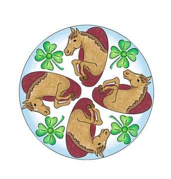 Mandala  - midi - Horses Loisirs créatifs;Dessin - Image 4 - Ravensburger
