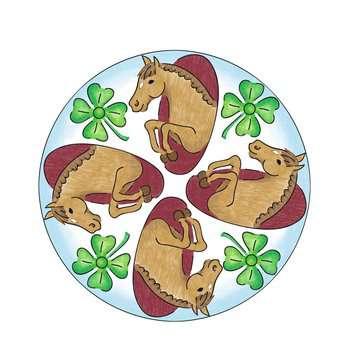 Mandala  - midi - Horses Loisirs créatifs;Dessin - Image 7 - Ravensburger