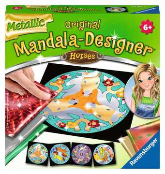 Metallic Mandala-Designer Horses Malen und Basteln;Malsets - Bild 1 - Ravensburger