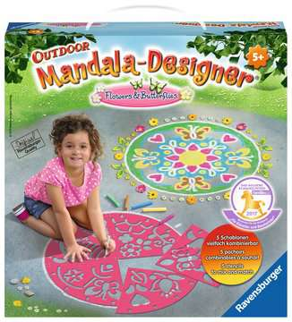 Outdoor Mandala- Designer® Flowers & Butterflies Hobby;Outdoor - image 1 - Ravensburger