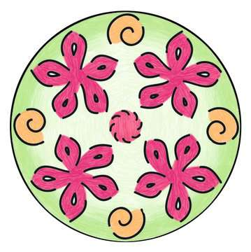 Mandala - midi - Disney Vaiana Loisirs créatifs;Dessin - Image 4 - Ravensburger