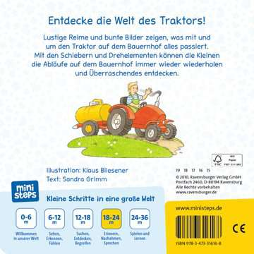 31616 Babybücher und Pappbilderbücher Tuck, tuck, mein Traktor! von Ravensburger 3