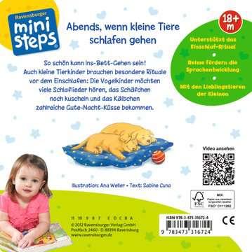 31672 Babybücher und Pappbilderbücher Abends, wenn kleine Tiere schlafen gehen von Ravensburger 1
