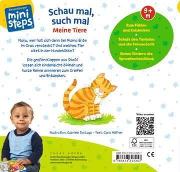 31725 Babybücher und Pappbilderbücher Schau mal, such mal: Meine Tiere von Ravensburger 3