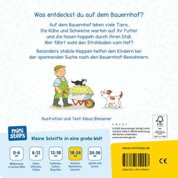 31994 Babybücher und Pappbilderbücher Mach auf! Schau rein! Auf dem Bauernhof von Ravensburger 3