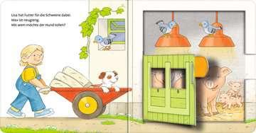 31994 Babybücher und Pappbilderbücher Mach auf! Schau rein! Auf dem Bauernhof von Ravensburger 5