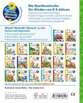 Formen und Gegensätze Kinderbücher;Wieso? Weshalb? Warum? - Bild 3 - Ravensburger