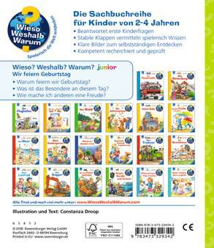 Wir feiern Geburtstag Kinderbücher;Wieso? Weshalb? Warum? - Bild 3 - Ravensburger