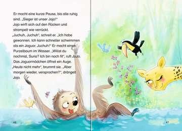 36562 Erstlesebücher Jojo und die Dschungelbande, Band 2: Abenteuer am großen Fluss von Ravensburger 4