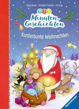 36593 Bilderbücher und Vorlesebücher 1-2-3 Minutengeschichten: Kunterbunte Weihnachten von Ravensburger 1