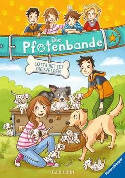 40604 Kinderliteratur Die Pfotenbande, Band 1: Lotta rettet die Welpen von Ravensburger 1