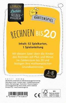 41580 Kinderspiele Kartenspiel Rechnen bis 20 von Ravensburger 3