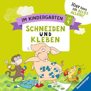 41589 Lernbücher und Rätselbücher Im Kindergarten: Schneiden und Kleben von Ravensburger 1