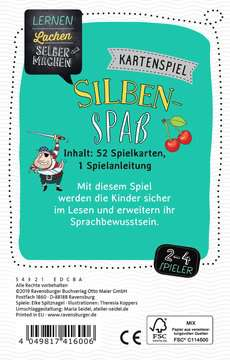 41600 Kinderspiele Kartenspiel Silbenspaß von Ravensburger 3