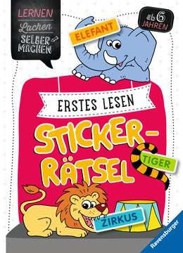 41604 Lernbücher und Rätselbücher Erstes Lesen Sticker-Rätsel von Ravensburger 1