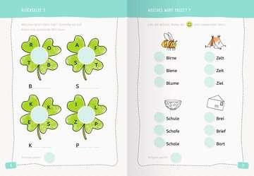 41604 Lernbücher und Rätselbücher Erstes Lesen Sticker-Rätsel von Ravensburger 5