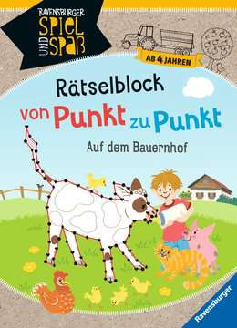 41704 Lernbücher und Rätselbücher Rätselblock von Punkt zu Punkt: Auf dem Bauernhof von Ravensburger 1
