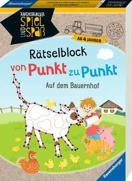 41704 Lernbücher und Rätselbücher Rätselblock von Punkt zu Punkt: Auf dem Bauernhof von Ravensburger 2