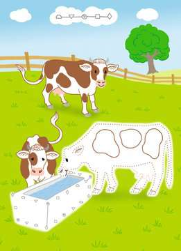 41704 Lernbücher und Rätselbücher Rätselblock von Punkt zu Punkt: Auf dem Bauernhof von Ravensburger 4
