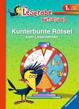 41717 Lernbücher und Rätselbücher Kunterbunte Rätsel zum Lesenlernen (1. Lesestufe) von Ravensburger 1