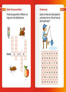 41717 Lernbücher und Rätselbücher Kunterbunte Rätsel zum Lesenlernen (1. Lesestufe) von Ravensburger 3