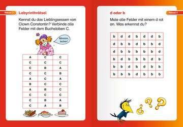 41717 Lernbücher und Rätselbücher Kunterbunte Rätsel zum Lesenlernen (1. Lesestufe) von Ravensburger 5