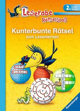 41718 Lernbücher und Rätselbücher Kunterbunte Rätsel zum Lesenlernen (2. Lesestufe) von Ravensburger 1