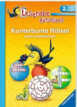 41718 Lernbücher und Rätselbücher Kunterbunte Rätsel zum Lesenlernen (2. Lesestufe) von Ravensburger 2