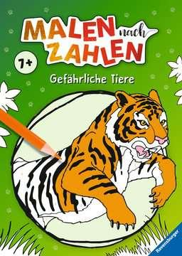 41723 Malbücher und Bastelbücher Malen nach Zahlen: Gefährliche Tiere von Ravensburger 1