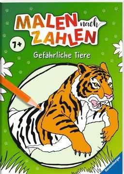 41723 Malbücher und Bastelbücher Malen nach Zahlen: Gefährliche Tiere von Ravensburger 2