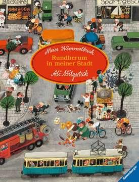 43488 Babybücher und Pappbilderbücher Mein Wimmelbuch: Rundherum in meiner Stadt von Ravensburger 1