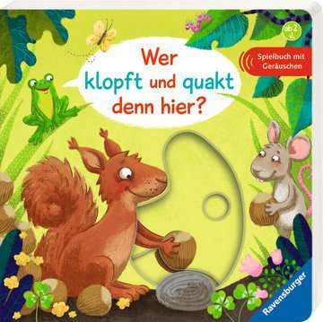 43683 Babybücher und Pappbilderbücher Wer klopft und quakt denn hier? von Ravensburger 2