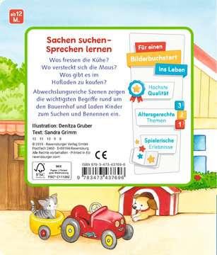 43769 Babybücher und Pappbilderbücher Mein erstes Sachen suchen: Mein Bauernhof von Ravensburger 3