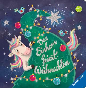 43794 Babybücher und Pappbilderbücher Das Einhorn feiert Weihnachten von Ravensburger 1
