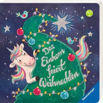 43794 Babybücher und Pappbilderbücher Das Einhorn feiert Weihnachten von Ravensburger 2